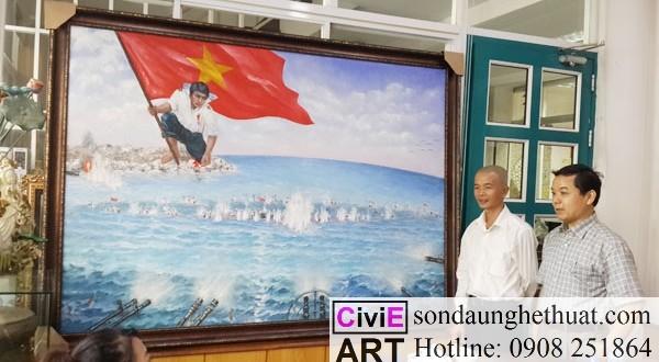 Lẫy lừng với tranh lịch sử Việt Nam