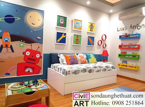 Tranh trang trí phòng ngủ gia đình
