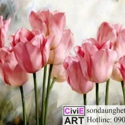Tranh tulip cho cô bạn thân