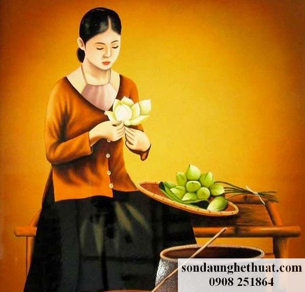 Tranh thiếu nữ Việt Nam