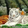 Tranh hổ trắng hay tranh hổ cam